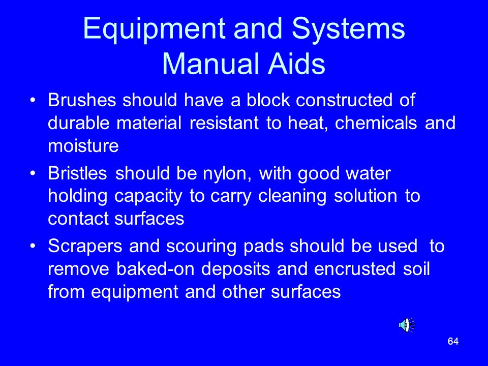 Equipment and Systems Manual Aids