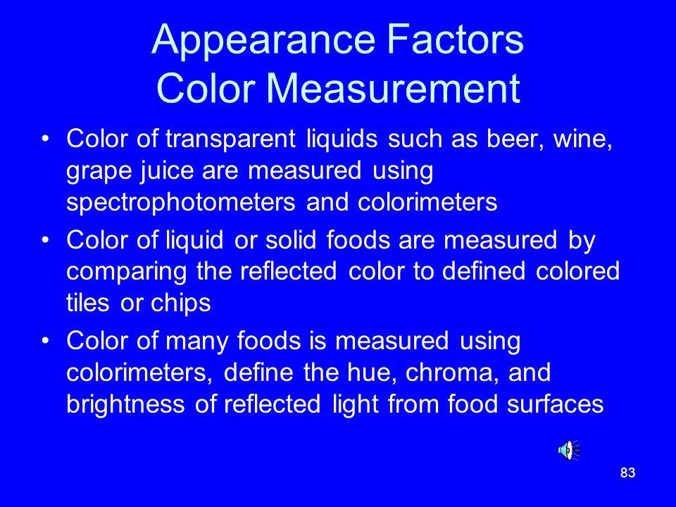 Appearance Factors Color Measurement