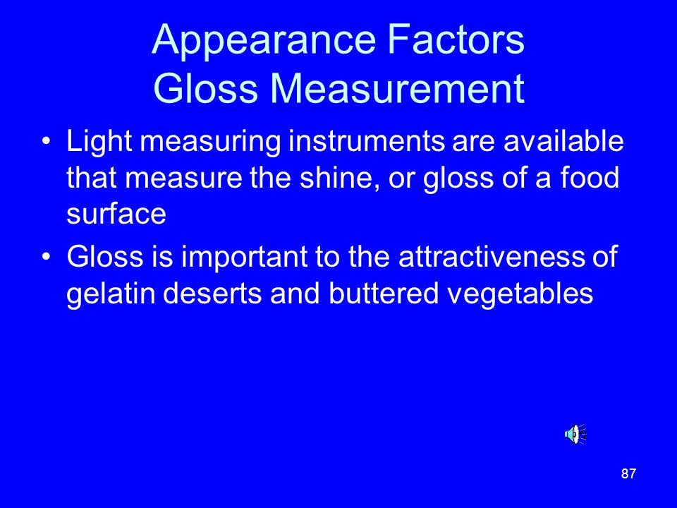 Appearance Factors Gloss Measurement