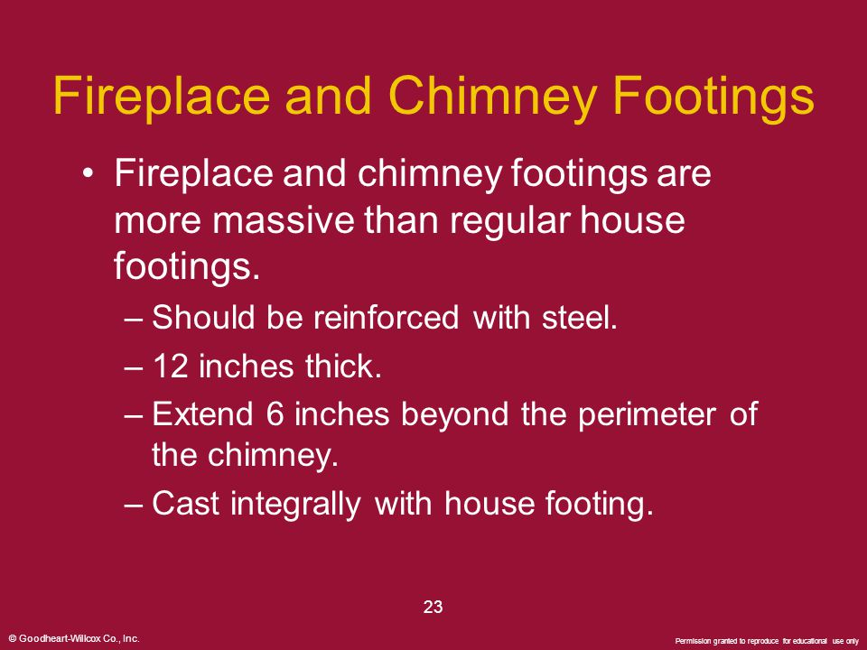 Fireplace and Chimney Footings