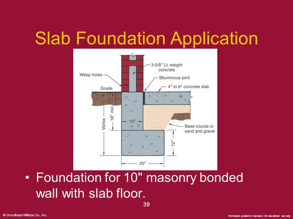 Slab Foundation Application