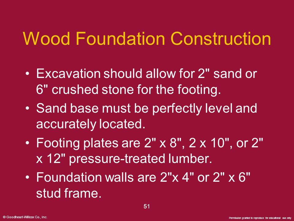 Wood Foundation Construction