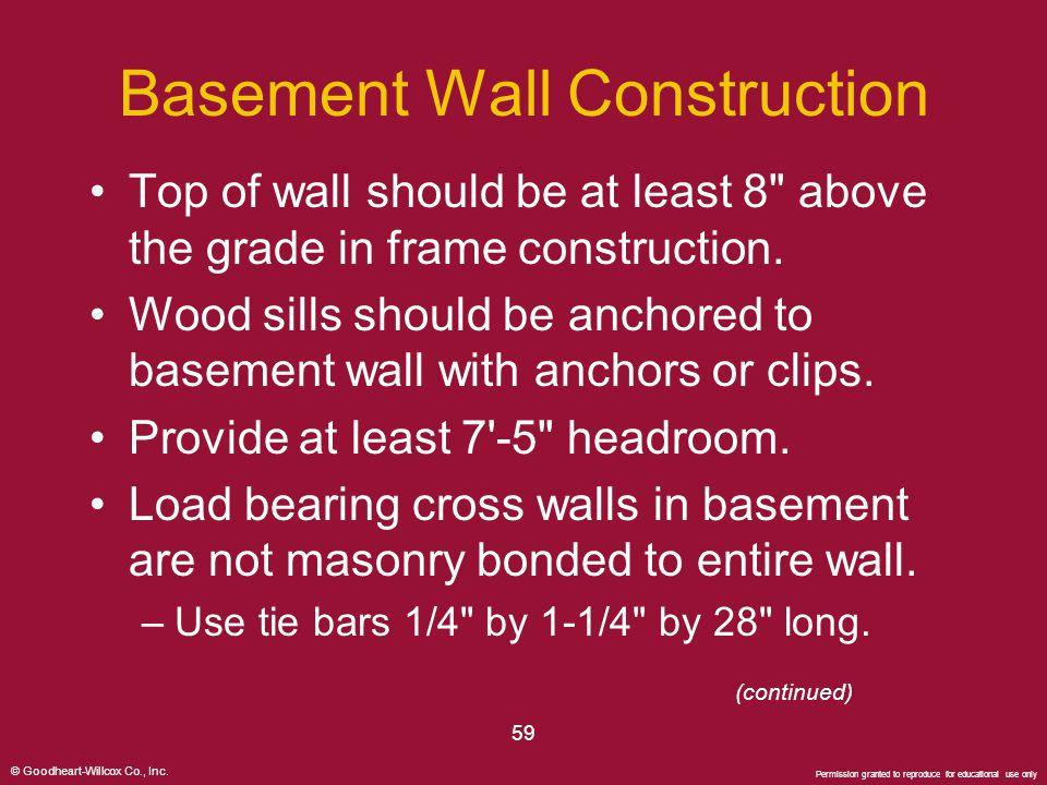 Basement Wall Construction