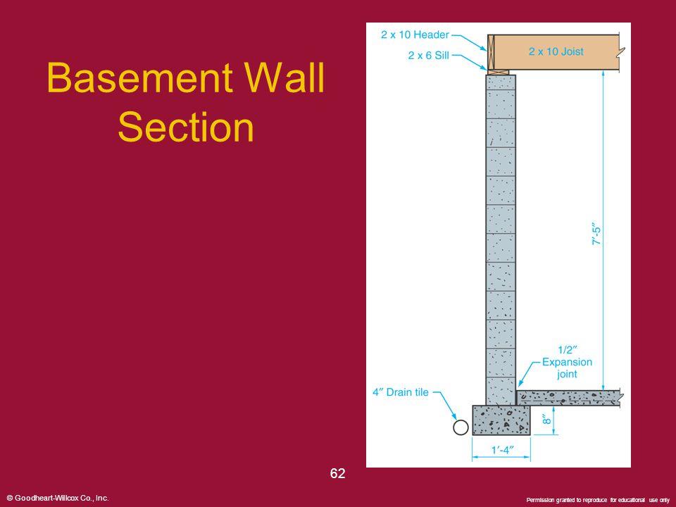 Basement Wall Section 62