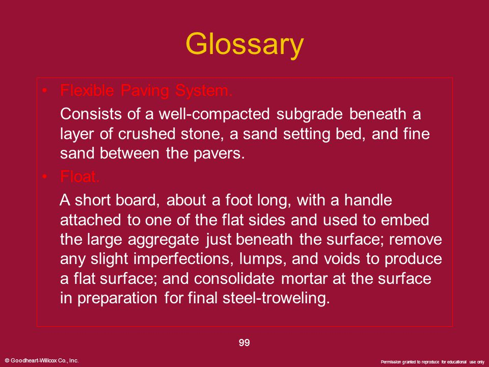 Glossary Flexible Paving System.