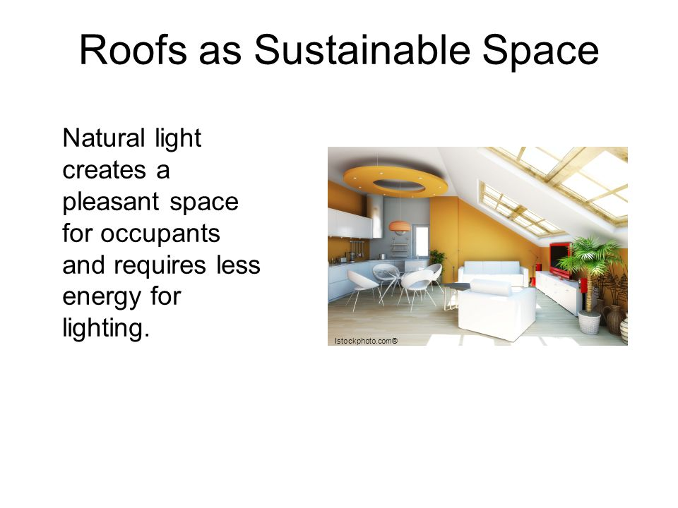 Roofs as Sustainable Space