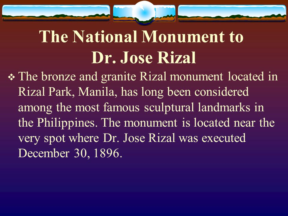 The National Monument to Dr. Jose Rizal