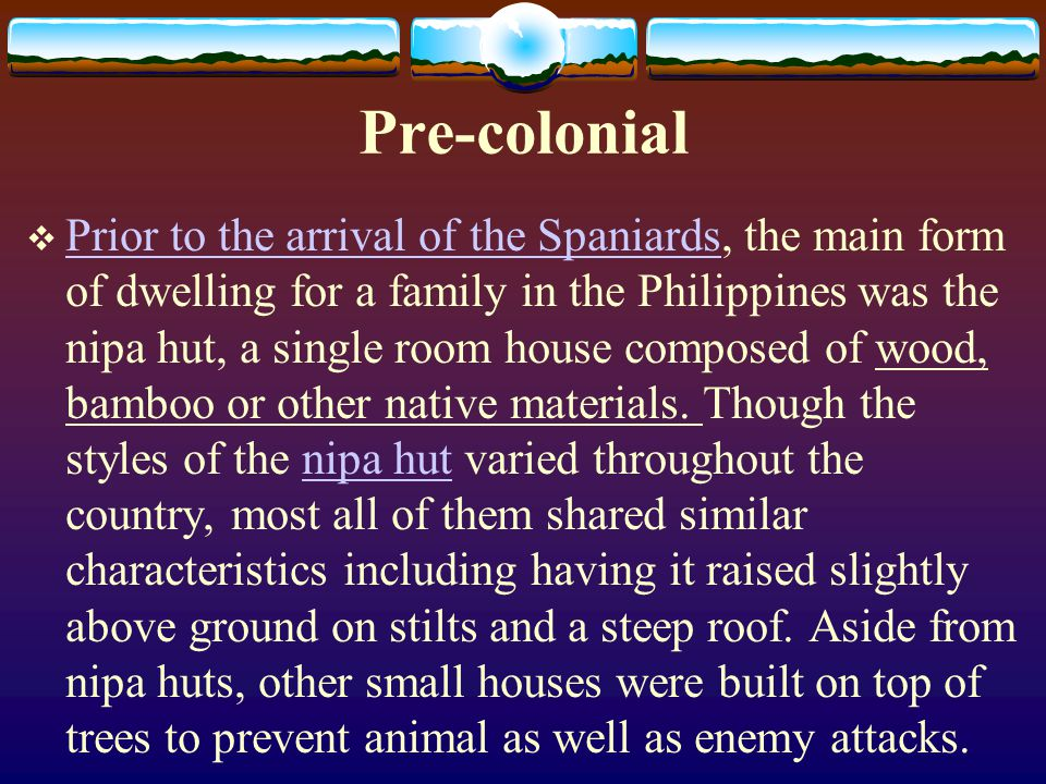 Pre-colonial