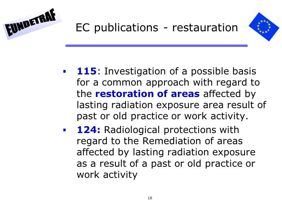 EC publications - restauration