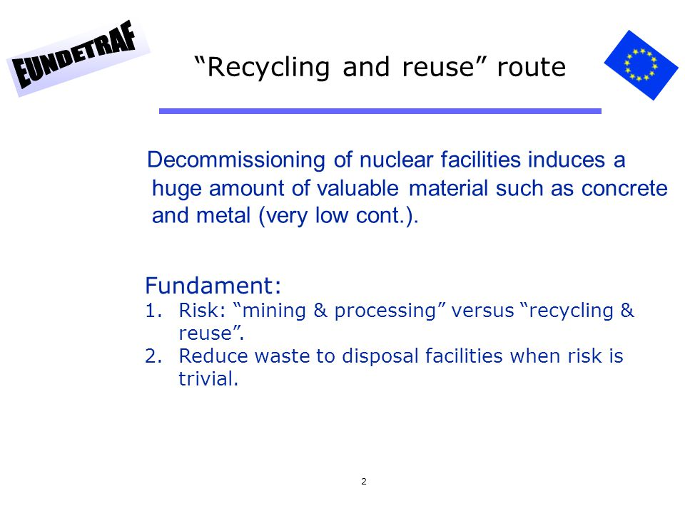Recycling and reuse route