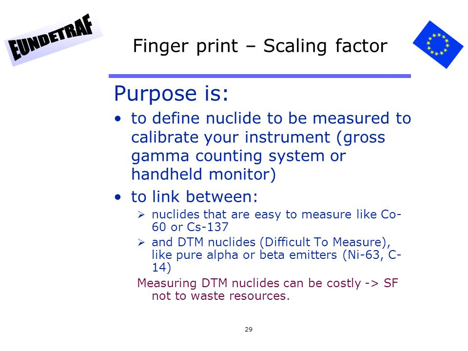 Finger print – Scaling factor