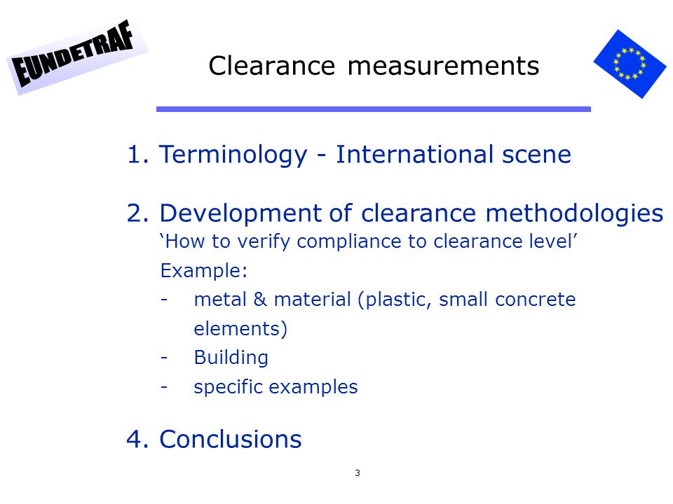 Clearance measurements