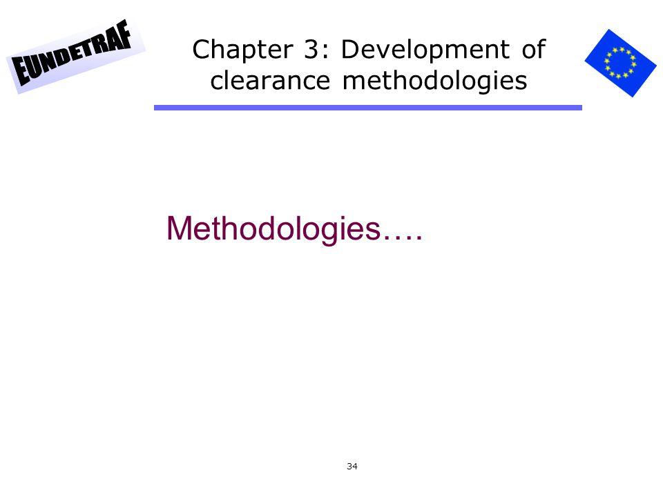 Chapter 3: Development of clearance methodologies
