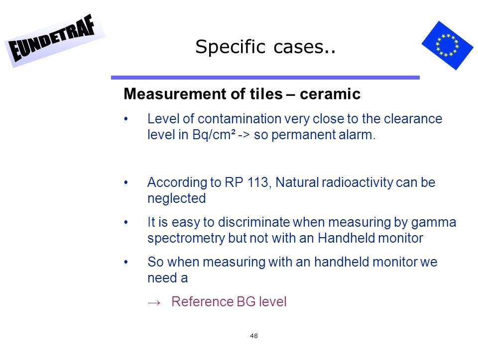 Specific cases.. Measurement of tiles – ceramic