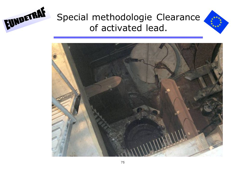 Special methodologie Clearance of activated lead.