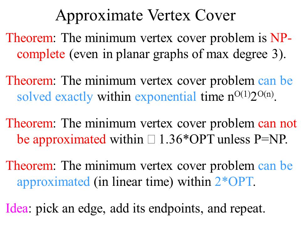 Approximate Vertex Cover
