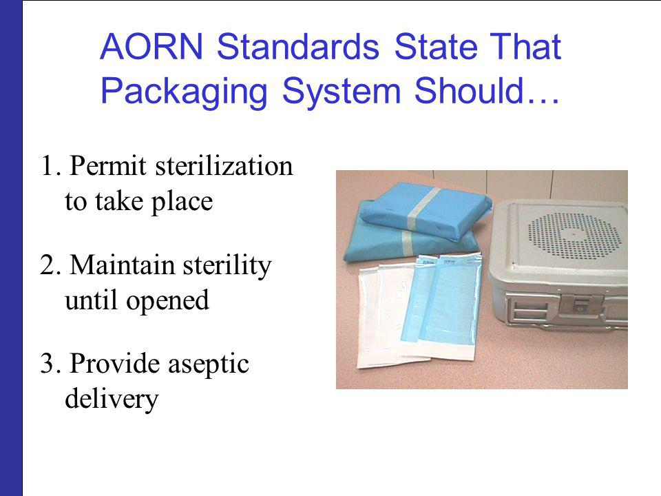 AORN Standards State That Packaging System Should…