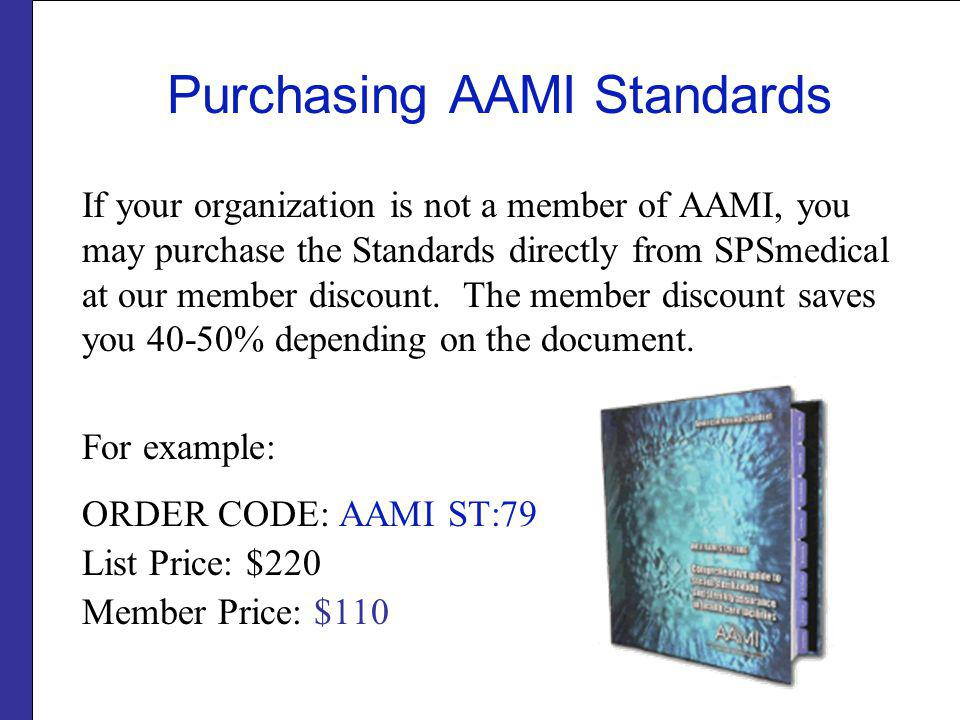 Purchasing AAMI Standards