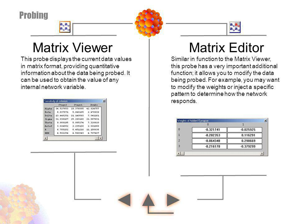 Matrix Viewer Matrix Editor Probing
