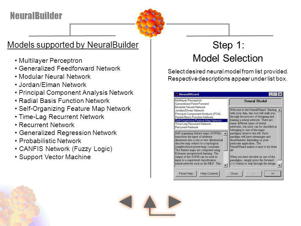 Step 1: Model Selection NeuralBuilder