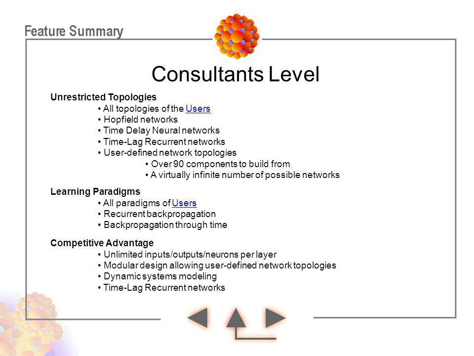 Consultants Level Unrestricted Topologies
