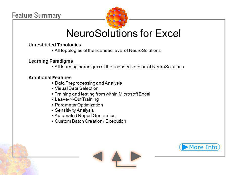 NeuroSolutions for Excel