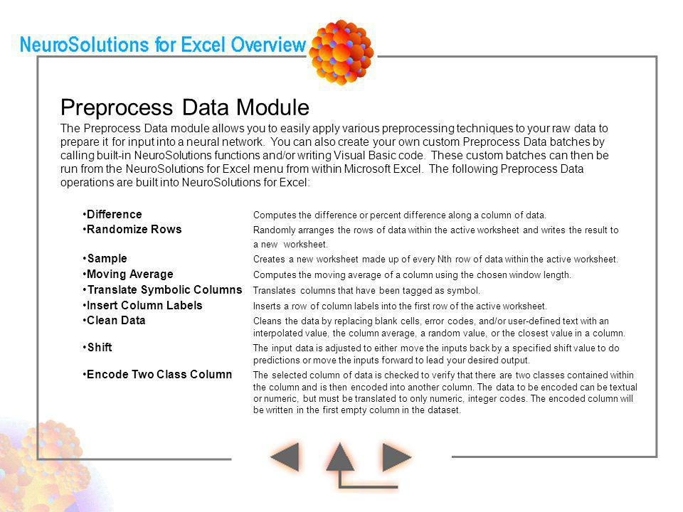 Preprocess Data Module