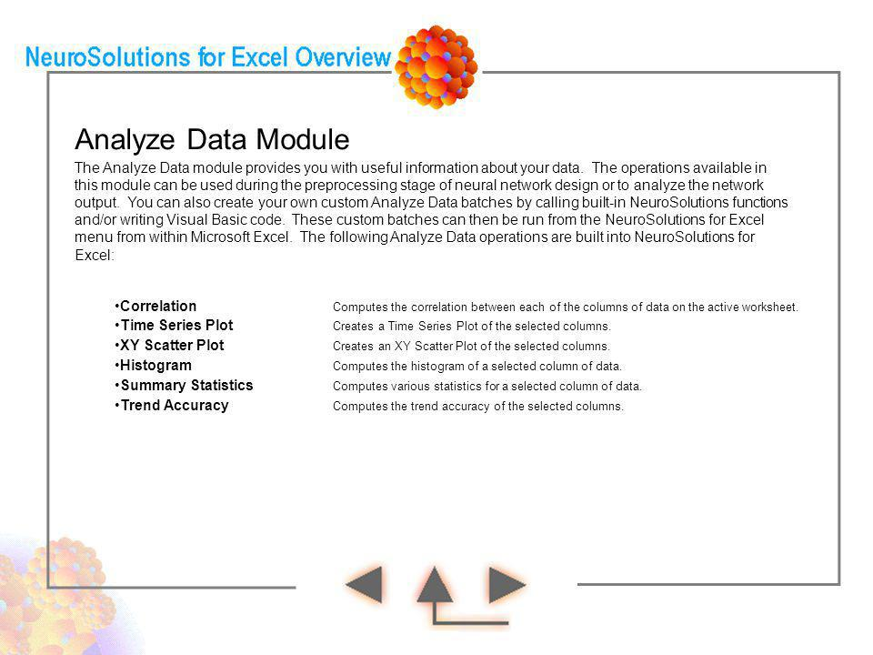 Analyze Data Module