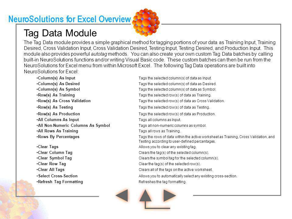 Tag Data Module
