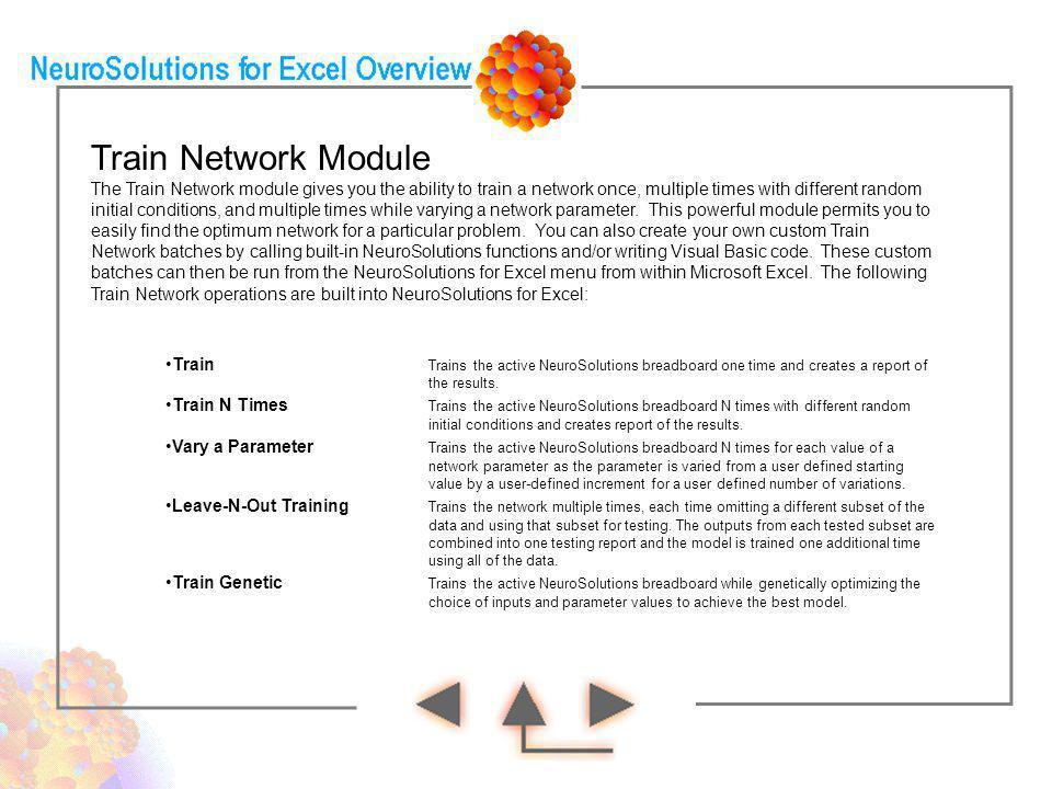 Train Network Module