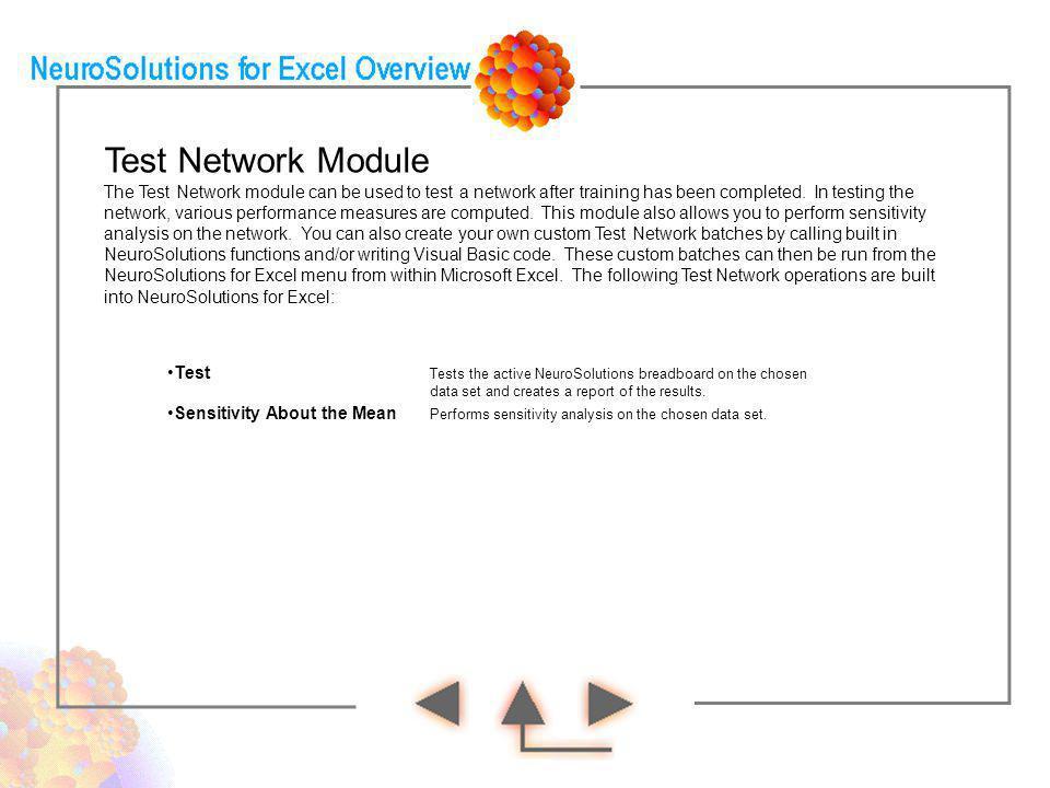 Test Network Module