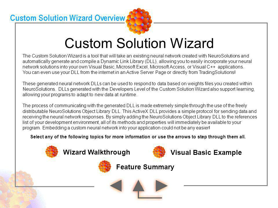 Custom Solution Wizard