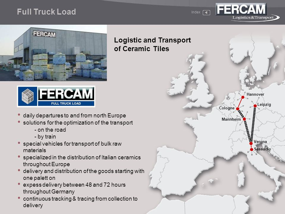 Full Truck Load Logistic and Transport of Ceramic Tiles