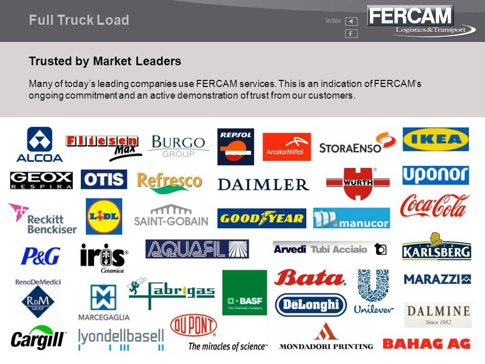 Full Truck Load Trusted by Market Leaders