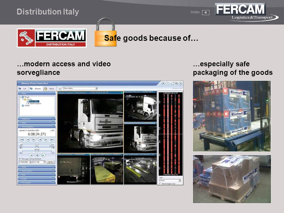 Distribution Italy Safe goods because of…