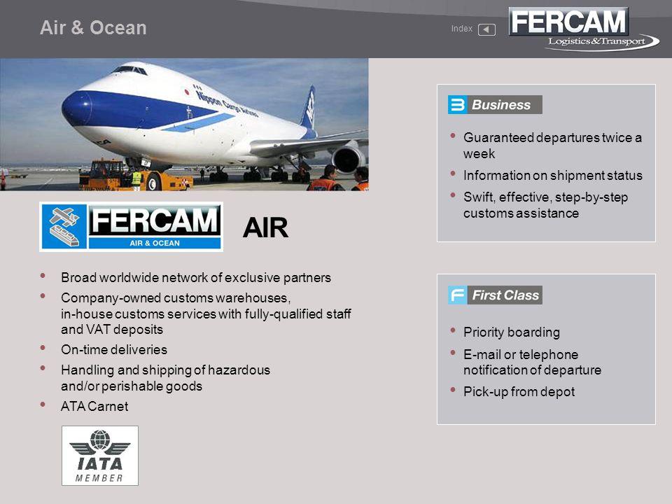 AIR Air & Ocean Guaranteed departures twice a week