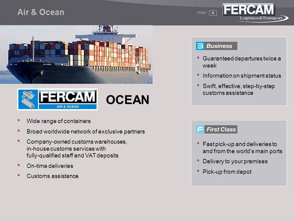 OCEAN Air & Ocean Guaranteed departures twice a week