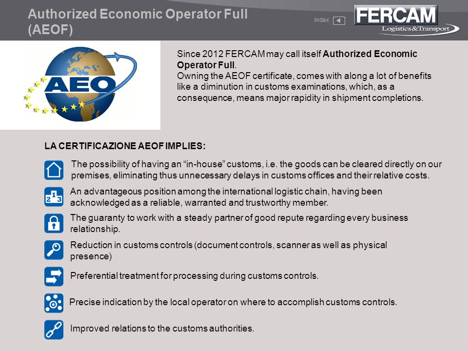 Authorized Economic Operator Full (AEOF)