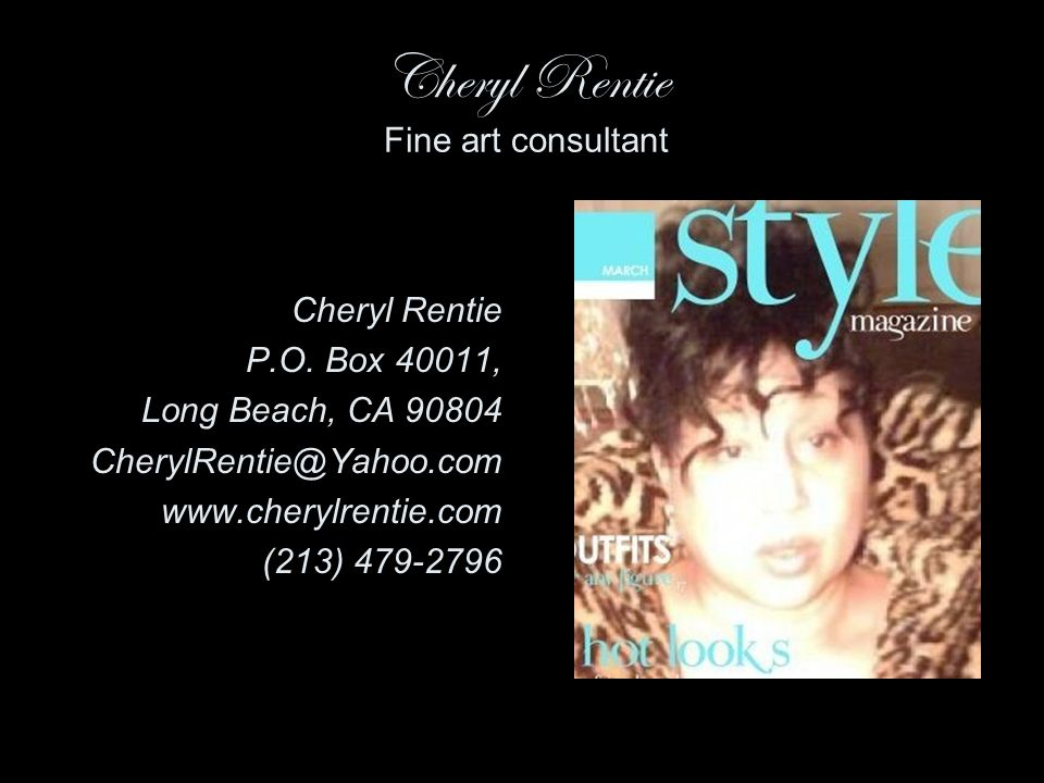 Cheryl Rentie Fine art consultant