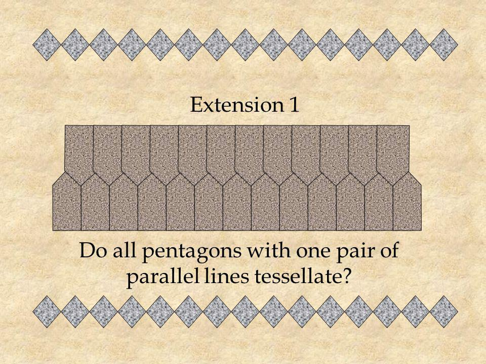 Do all pentagons with one pair of parallel lines tessellate