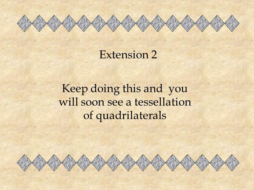 Keep doing this and you will soon see a tessellation of quadrilaterals