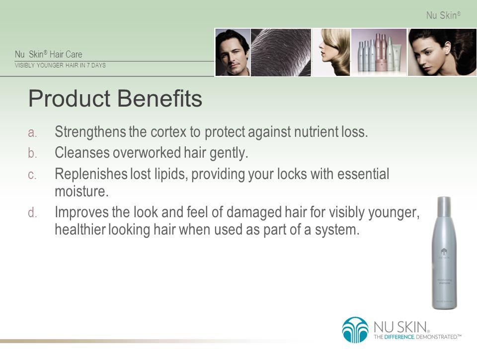 Product Benefits Strengthens the cortex to protect against nutrient loss. Cleanses overworked hair gently.