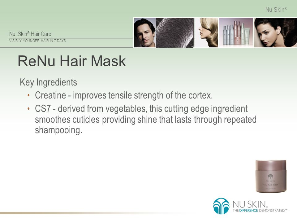 ReNu Hair Mask Key Ingredients