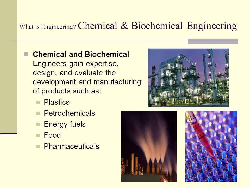 What is Engineering Chemical & Biochemical Engineering