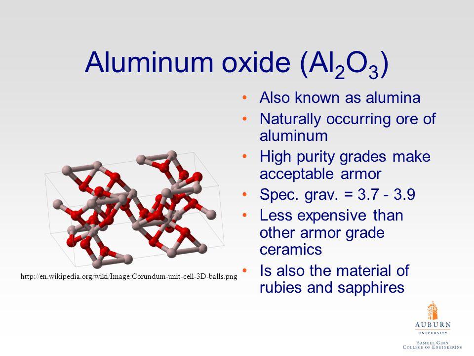 Aluminum oxide (Al2O3) Also known as alumina