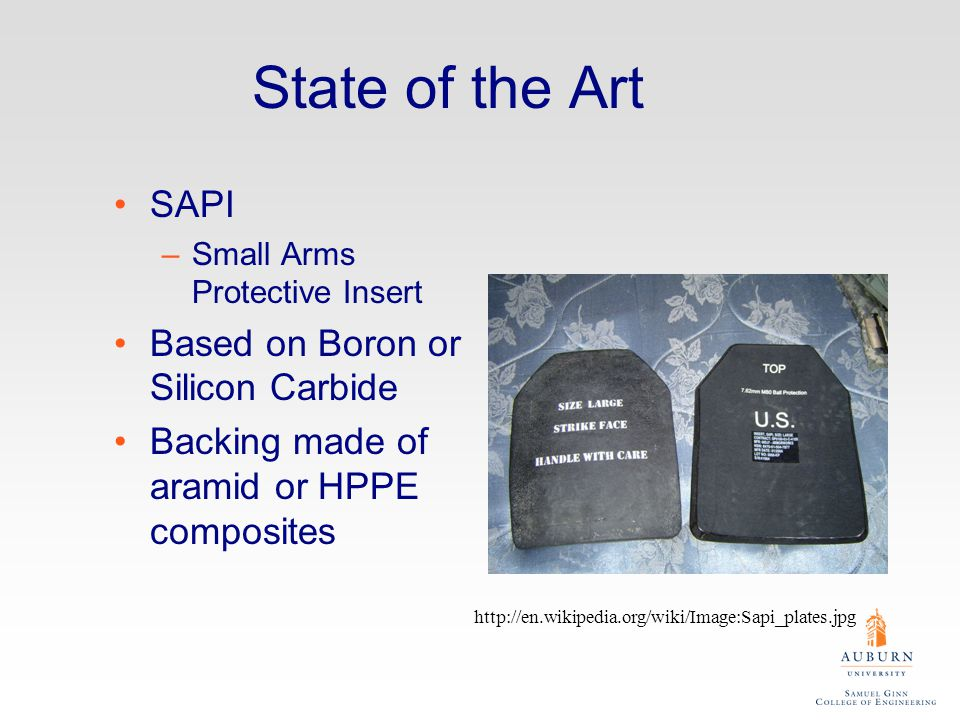State of the Art SAPI Based on Boron or Silicon Carbide