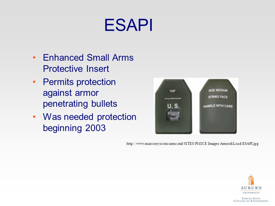 ESAPI Enhanced Small Arms Protective Insert