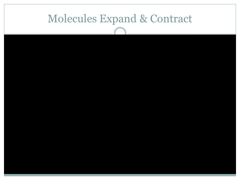 Molecules Expand & Contract