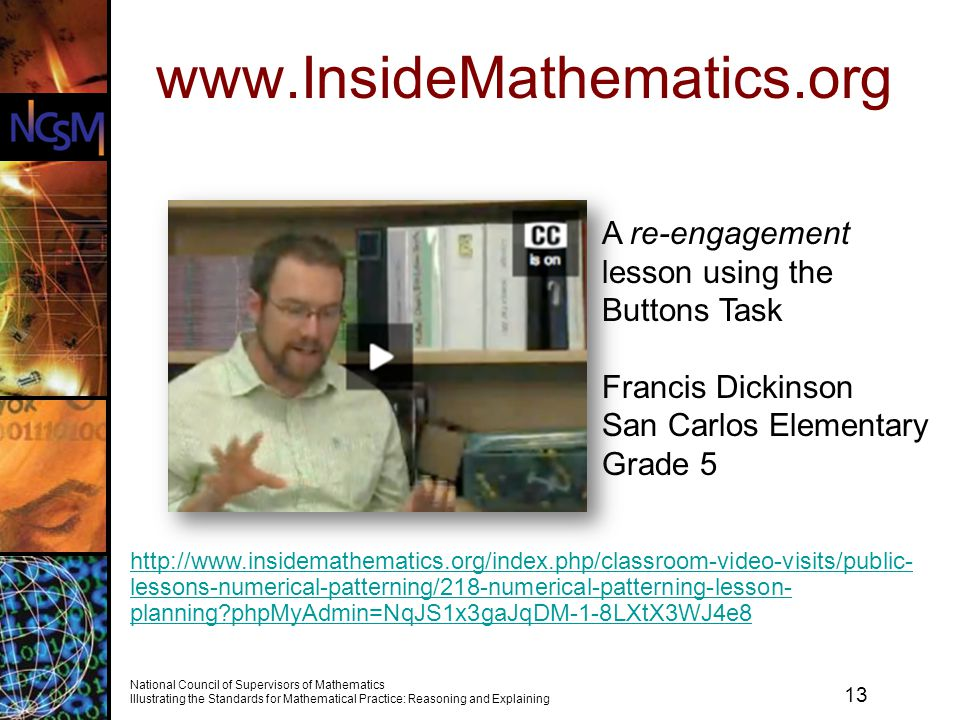 www.InsideMathematics.org A re-engagement lesson using the