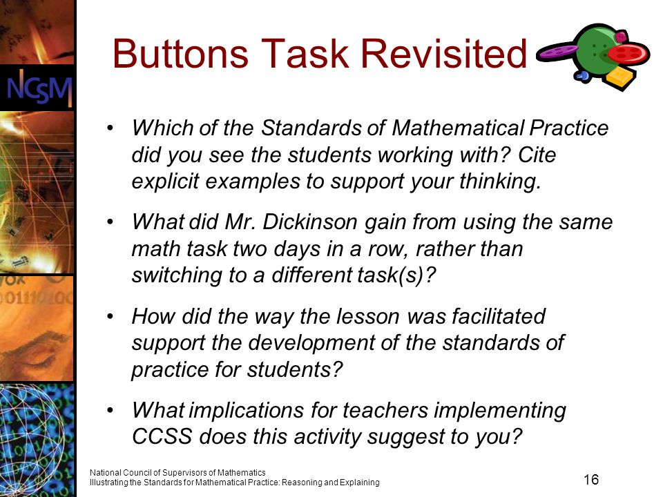 Buttons Task Revisited